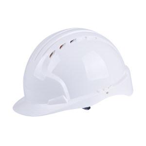 JSP/洁适比 威力9聚乙烯内衬滑扣式头盔 01-9012 白色 六点式织物帽衬 聚氨酯吸汗带 1顶