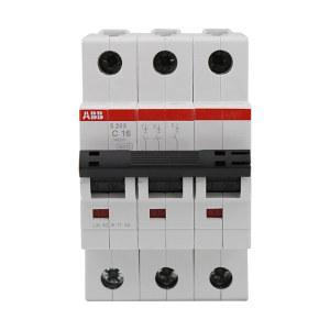 ABB S200系列微型断路器 S203-C16 C脱扣 额定电流16A 1个