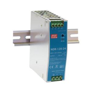 MW/明纬 NDR-120系列120W工业用DIN导轨型单组输出电源供应器 NDR-120-24 1个
