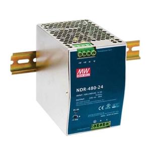 MW/明纬 NDR-480系列480W工业用DIN导轨型单组输出电源供应器 NDR-480-24 1个