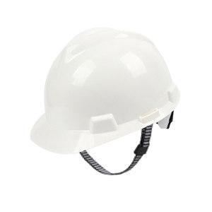 MSA/梅思安 V-Gard PE标准型安全帽 10172901 白色 超爱戴帽衬 针织布吸汗带 D型下颏带 1顶