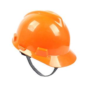 MSA/梅思安 V-Gard PE标准型安全帽 10172903 橙色 超爱戴帽衬 针织布吸汗带 D型下颏带 1顶