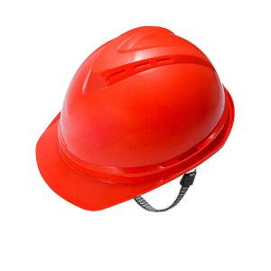 MSA/梅思安 V-Gard500 PE豪华型有孔安全帽 10172515 红色 带透气孔 超爱戴帽衬 针织布吸汗带 D型下颏带 1顶