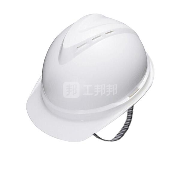 MSA/梅思安 V-Gard500 ABS豪华型有孔安全帽 10172476 白色 带透气孔 超爱戴帽衬 针织布吸汗带 D型下颏带 1顶