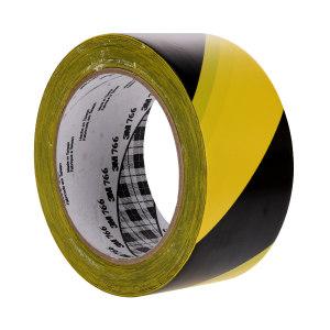 3M PVC地面警示胶带 766 黄黑 48mm*33m 1卷