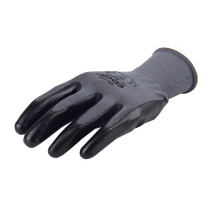 ANSELL/安思尔 EDGE 尼龙丁腈涂层工作手套 48128100 10码 黑色涂层 1副