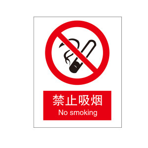 SAFEWARE/安赛瑞 GB安全标识(禁止吸烟) 30501 250*315mm 高性能不干胶 1个