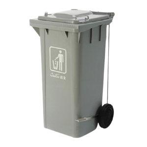 CHAOBAO/超宝 脚踏式侧轮垃圾桶 B-003A(灰色) 48×55×93cm 120L 1个