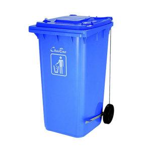 CHAOBAO/超宝 脚踏式侧轮垃圾桶 B-004A(蓝色) 57.5×72×104cm 240L 1个