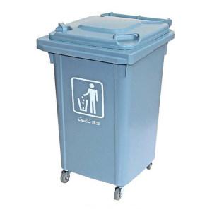 CHAOBAO/超宝 四轮移动垃圾桶 B-001(灰色) 41×48×68cm 60L 1个