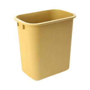 CHAOBAO/超宝 中号花纹垃圾桶 B-034B 295×210×310mm 13L 杏色 1个