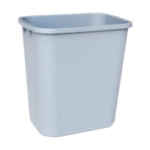CHAOBAO/超宝 中号花纹垃圾桶 B-034B 295×210×310mm 13L 灰色 1个