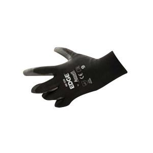 ANSELL/安思尔 涤纶PU掌部涂层手套 48126070 7码 黑色 1打