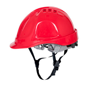 DELTA/代尔塔 CH4ABS系列ABS安全帽 102106 红色(RO) 8点织物内衬 含下颏带 1顶