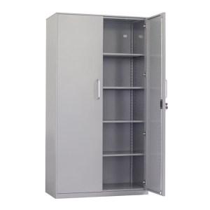 JIDA/集大 开门文件柜 WH2-K-18 900×450×1810mm 对开门 四块层板 银灰色 1个