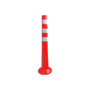 SAFEWARE/安赛瑞 弹性警示柱 14476 Φ100*750mm 红白反光 1根
