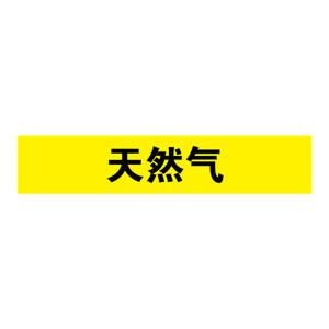 SAFEWARE/安赛瑞 管道介质标识贴(天然气) 14978 25*125mm 1包