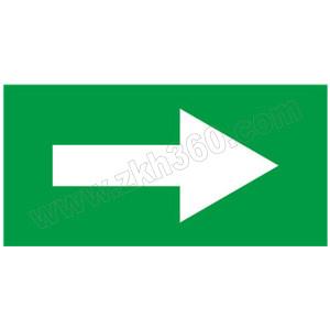 SAFEWARE/安赛瑞 管道流向箭头标识贴(绿底白箭头) 15418 50*100mm 1包