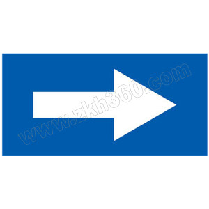 SAFEWARE/安赛瑞 管道流向箭头标识贴(蓝底白箭头) 15433 100*200mm 1张