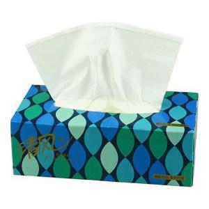 BREEZE/清风 商务盒装面巾纸 B335AAD 双层 195×206mm 130抽×48盒 无香 1箱