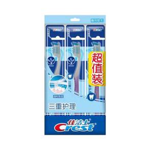 CREST/佳洁士 三重护理牙刷三支超值装 6903148182659 软毛 1组