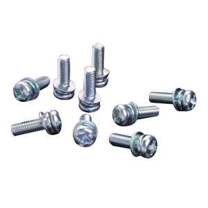 ZKH/震坤行 GB9074.4 十字槽盘头螺钉、弹簧垫圈和平垫圈组合件 碳钢 4.8级 镀锌 全牙 300121004000800200 M4×8 1000个 1包