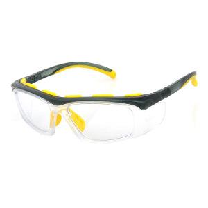QF/奇非 PC矫视安全眼镜镜框 QF-8 黑色/黄色 可定制近视镜片组合销售 1副
