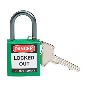BRADY/贝迪 紧凑型绝缘安全挂锁 143152(Y1453937) 绿色 异心 1把