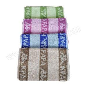 GENERAL/通用 小毛巾 小毛巾 25×50cm 紫蓝绿棕四色随机 1条