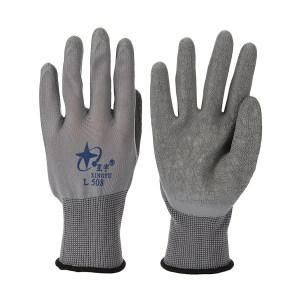 XINGYU/星宇 十三针尼龙乳胶皱纹手套 L508 8码 灰色 1双