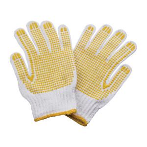 ZKH/震坤行 7针600GPVC点塑手套 7针600GPVC点塑手套 750g 含PVC点珠 黄边 12副 1打