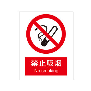 SAFEWARE/安赛瑞 GB安全标识(禁止吸烟) 30601 250*315mm 1.5mm厚ABS工程塑料板 1个