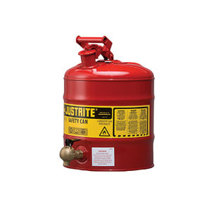 JUSTRITE/杰斯瑞特 钢制安全架式分装罐 7150140 19L 红色 1个