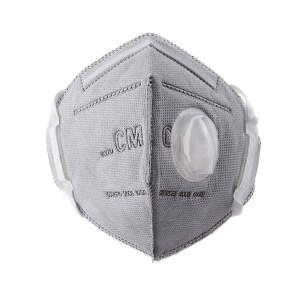 CM/朝美 折叠式活性炭颗粒物防护口罩 6002A-4 KN95/FFP2 头戴式 带阀 1只