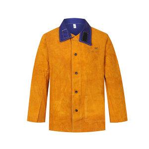 AP/友盟 金黄色皮配蓝色阻燃背布上身焊服 3060 XL 1件