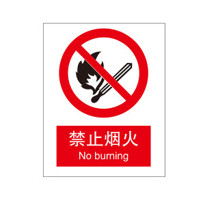 SAFEWARE/安赛瑞 GB安全标识(禁止烟火) 30500 250*315mm 高性能不干胶 1张
