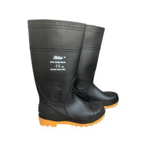 LITAI/丽泰 PVC黑色高筒安全靴 LT-102 42码 防砸防刺穿 1双