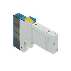 SMC SY5000系列五通电磁阀 SY5400-5U1 三位五通中泄 底板配线型 DC24V 1个