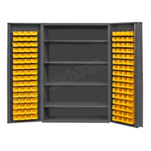 DURHAM MFG 存储柜 DC48-128-4S-95 1219×610×1829mm 带128个物料箱和4个搁板 1个