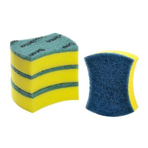 3M 思高超洁净海绵百洁布3片装送防刮擦 6912504811959 104×84mm 3+1片装(3片绿色+1片蓝色) 1包