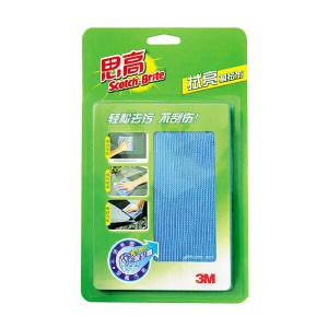 3M 思高拭亮擦拭布大号 6912504802759 300×320mm 蓝色 1盒