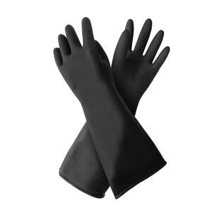 WEIDIE/威蝶 黑色工业耐酸碱手套 45B 均码 45cm加厚 1双