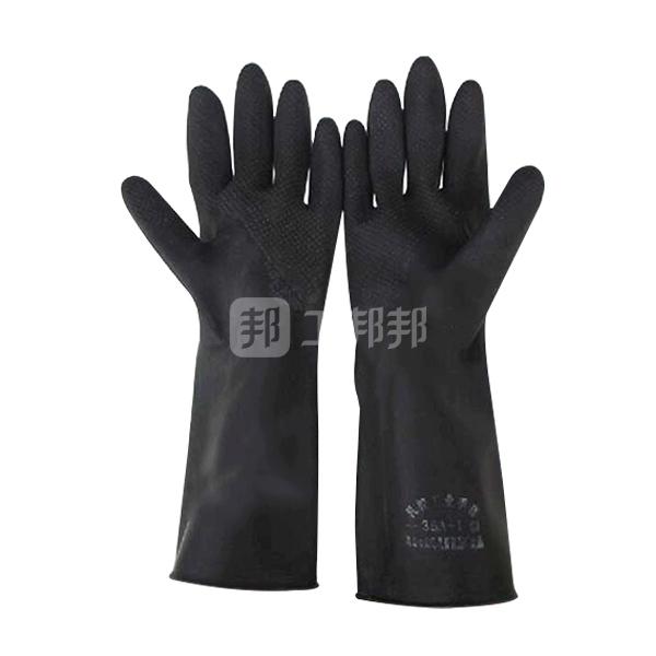 WEIDIE/威蝶 黑色工业耐酸碱手套 36B 均码 36cm加厚 1双