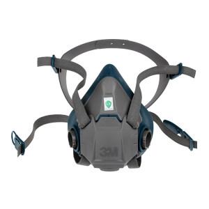 3M 6500硅胶系列呼吸防护半面罩 6502 中号 1个