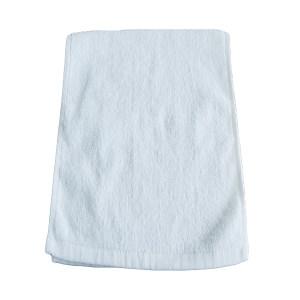 SANHAO/三好 21线平织白色面巾 21线平织面巾 35×70cm 白色 100%纯棉(缎档及装饰部分除外) 100g 1条