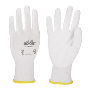 ANSELL/安思尔 涤纶PU掌部涂层手套 48125080 8码 白色 1副