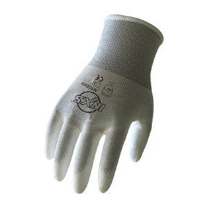 INXS/赛立特 涤纶针织PU掌涂工作手套 N10550 8码 白色 1副