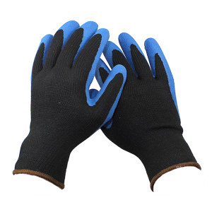ANSELL/安思尔 经济款掌涂天然橡胶手套 48-305 9码 蓝色涂层 1副