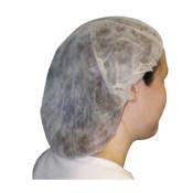 AMMEX/爱马斯 无纺布条形帽 40048W-21C 白色 均码 10克重 1袋