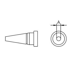 WELLER/威乐 LT 1烙铁头 T0054443599 圆形?0.25mm 1个